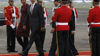 Obama arrives in Indonesia
