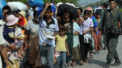Myanmar refugees return home