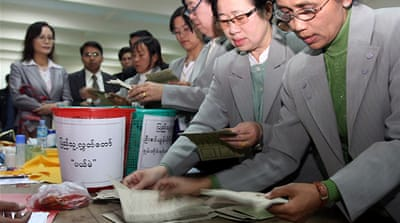 Myanmar parties concede poll defeat