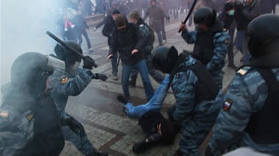 Soccer riots cloud Russia as host
