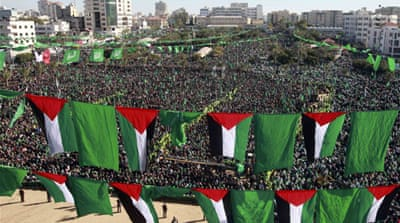 Hamas holds massive Gaza rally