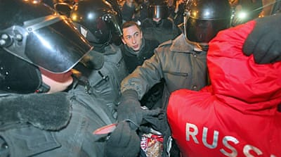 Mass arrests over Russia riots