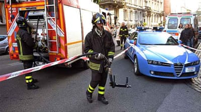 Parcel bombs hit embassies in Rome