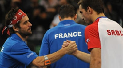 French duo fight back in Davis Cup