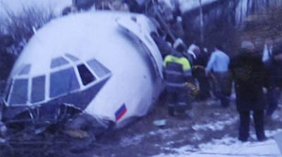 Two dead as plane lands in Moscow