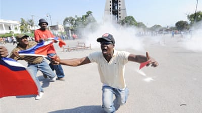 Haiti protesters clash with police
