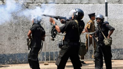 Protesters clash in S Lanka capital