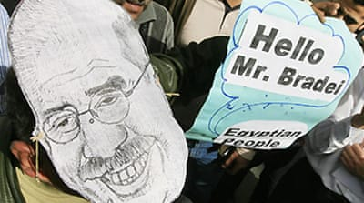 Egyptians welcome ElBaradei home