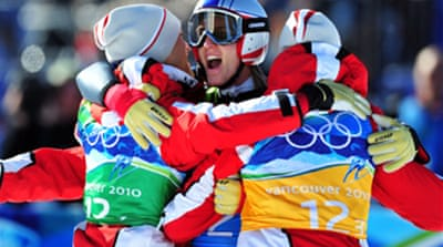 Austria leap to team gold