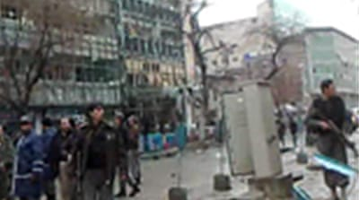 Bombers strike heart of Kabul