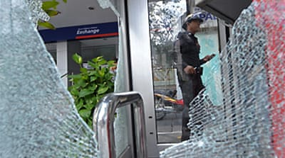 Grenade blast hits near Thai bank
