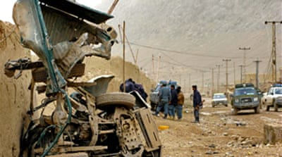 Afghan police killed in explosion