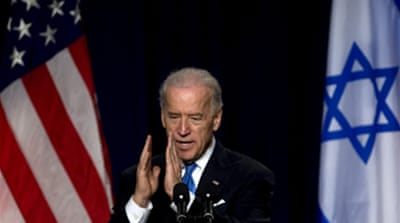 Biden urges speedy peace process