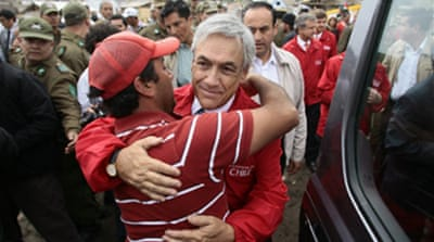 New Chile president vows to rebuild