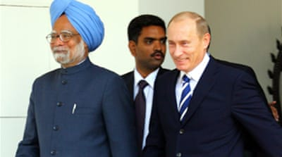 Putin in India to sign arms deals