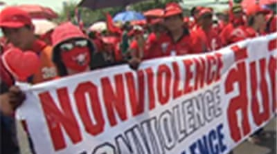 Protests continue in Thailand