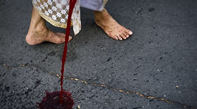 'Blood protest' rocks Thai capital