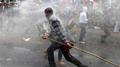 Clashes at Indonesia bailout probe