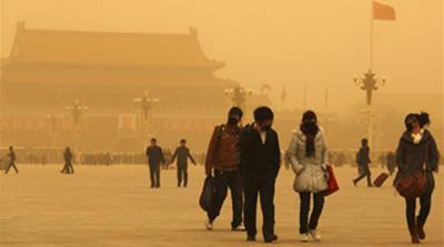 Health alert over China sandstorm