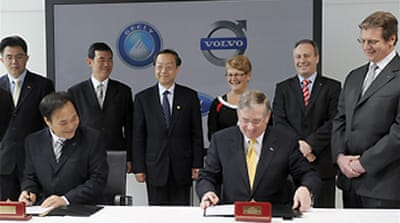 China car firm buys Ford's Volvo
