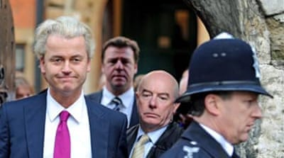 Wilders shows film in UK parliament