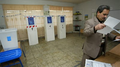 Iraqis vote in parliamentary polls