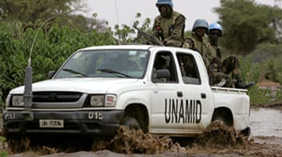 UN peacekeepers abducted in Darfur