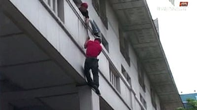Red shirt leader escapes hotel raid
