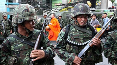 Troops return to Bangkok streets