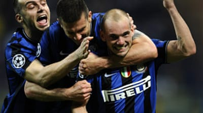 Three-goal Inter shock Barcelona