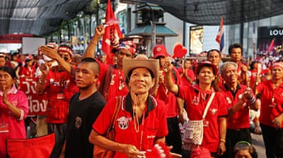 Red shirts put off protest march