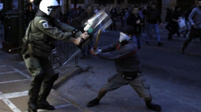 Riots follow Greek bailout request