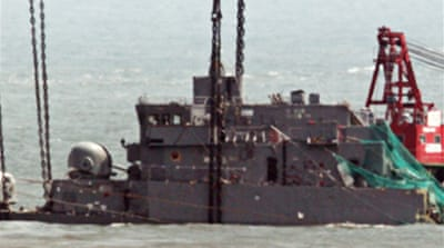 South Korea suspects torpedo attack