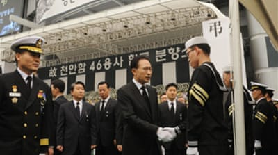 Respects paid to S Korean sailors