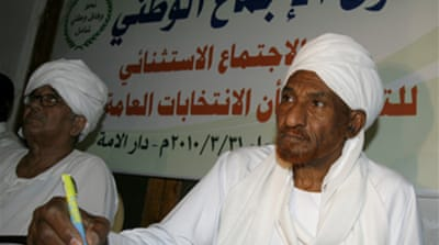 Sudan party sets election demands