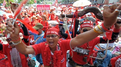 Red shirts told to quit tourist hub
