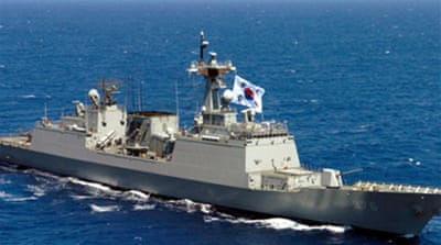 Korean navy pursues seized vessel