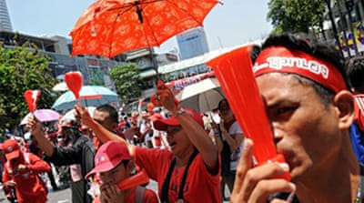 Red shirts vow to defy emergency