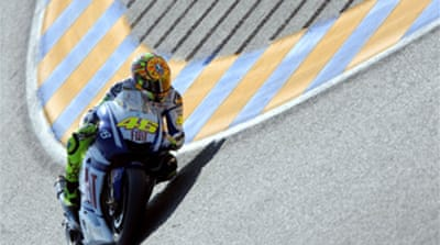 Rossi on pole at Le Mans
