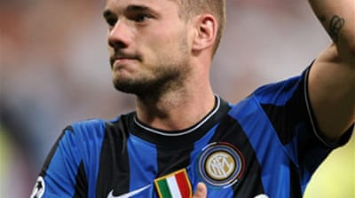 Sneijder revels in Bernabeu return