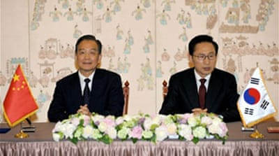 China seeks to defuse Korea tension