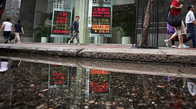 Asian markets hit by Europe worries