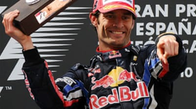 Webber wins Spanish Grand Prix