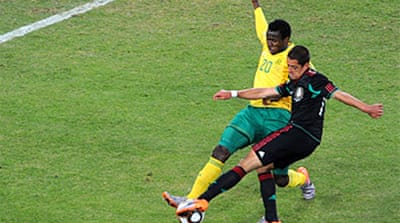 South Africa draw with Mexico