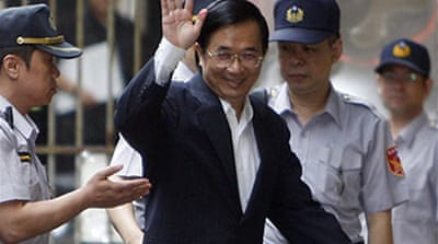 Ex-Taiwan president's jail term cut