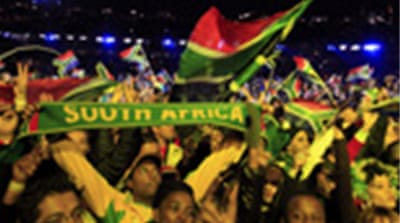 Football fever sweeps South Africa