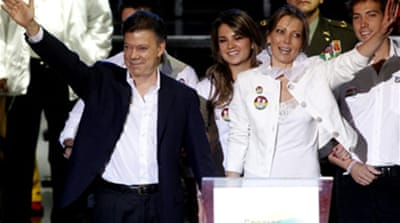 Ex-defence chief wins Colombia vote