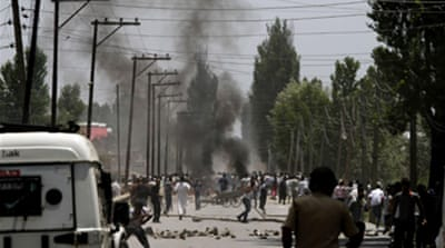 Troops fire at Kashmir protesters