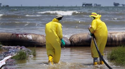US accepts Gulf oil spill aid