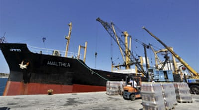 Gaza aid ship 'diverts' to Egypt